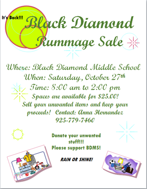 Black Diamond Rummage Sale